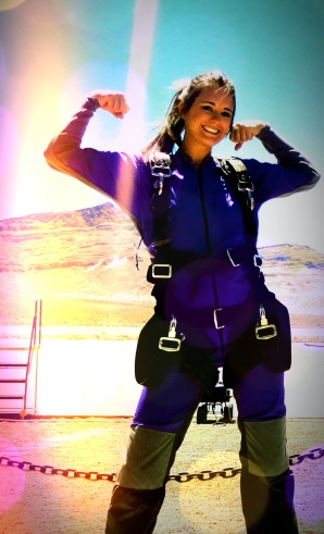 Me about to board the plane I jumped out of. Check skydiving off the bucket list. Photo edited by: Jessica Whitehead