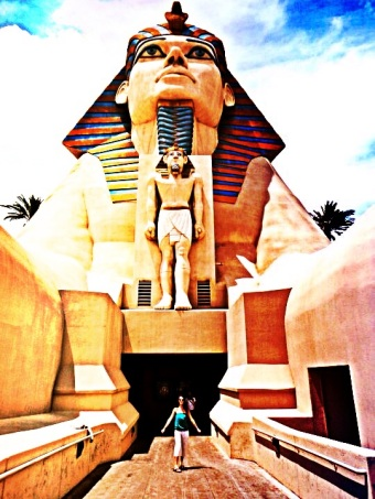 Entrance to the Luxor Hotel, Las Vegas. Photo by: Jessica Whitehead